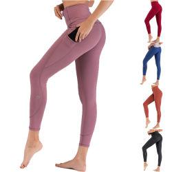 Venda por grosso Perneiras Ginásio de Esportes Vestuário mulheres calças de ioga Fitness