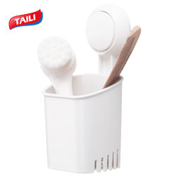 あけ自由で取り外し可能な歯ブラシのホールダーの強い真空の吸引のコップの歯磨き粉かみそりのホールダー
