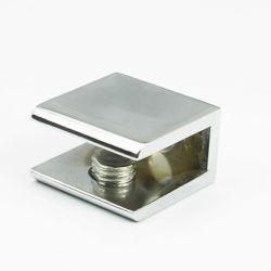 Forma rectangular de vidrio interior cromado en aleación de zinc la abrazadera de la construcción de la tornillería