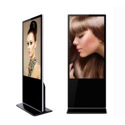 縦LCDデジタルの表記43インチの表示を広告する極めて薄いタッチ画面のキオスク
