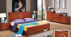 Chinesisches festes Holz-Schlafzimmer-Bett mit Kopfende-Schrank-Set