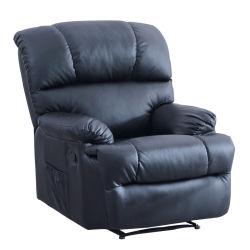 Style de luxe en cuir noir rembourrage confortable salon canapé Fauteuil inclinable