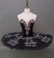 Profesional de alta calidad hechos a mano 12 capas de niñas vestidos de Ballet el lago cisne negro