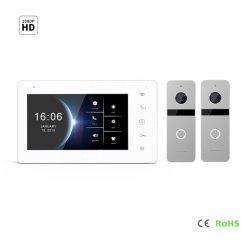 O ecrã IPS 7 porta de vídeo HD de campainha do telefone do sistema de segurança doméstica com visão nocturna de segurança inicial do sistema de controle de acesso ao sistema de automatização doméstica