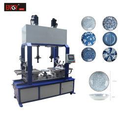 Печать голубой и белый фарфор керамические чаши пластины блока принтера многоцветной печати сенсорной панели машины для продажи