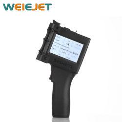 Dispositivo de bolsillo Impresora de inyección de tinta cartuchos de tinta HP/Impresora calificada para la fecha de la máquina de códigos de barras/caja de cartón/papel/PVC/bolsa de plástico