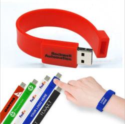 Индивидуальный логотип, 256 МБ флэш-диск запястья Band флэш-накопитель USB