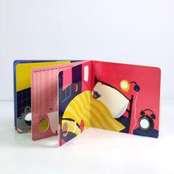Kundenspezifische Drucken-Noten-und Gefühl-Bücher für die pädagogischen Kinder, stempelschnitten Vorstand-Buch mit Licht und Taste