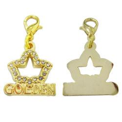2021 DIY Crystal CZ Bracelete Hores ficarão penduradas as crianças do sexo feminino Amor Coração Cordão Bracelete Charm jóias tornando Grosso Encanto Pendente (charme antigo-09)