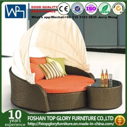 Из ротанговой пальмы, для использования внутри помещений для использования вне помещений диван-Диван-Холл настройки кушетки мебель кровать (TGLU-58)