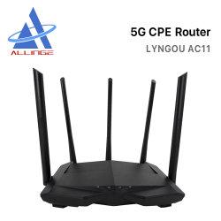 Lyngou LG028 AC11 Repetidor inalámbrico 200Mbps Home Dual Band AC1200 de alta calidad de 5GHz Mbps 80211AC de la Red Inteligente router Wi-Fi.
