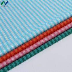Warp tejido Tejido de poliéster de 65%35%Algodón Tricot de tela a rayas Camisa de vestir