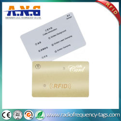 Échantillon gratuit 13.56MHz La RFID S50 1k Compatible carte à puce