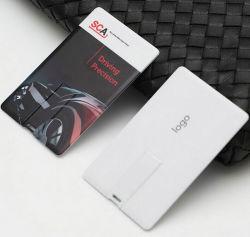 도매 신용 카드 USB 펜드라이브 USB 플래시 드라이브 USB 펜드라이브 USB 스틱과 무료 로고 양면 풀 컬러 인쇄
