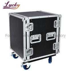 PRO Aluminium Flight Case 12U Rack Case mit Rollen