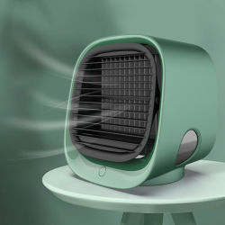 Laudtecの携帯用エアコンの小型空気ファン冷水装置は送風するLEDライト(FAN-18)が付いているCirculator大きい風水スプレーのファンに