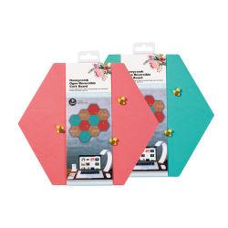 SG Werbeartikel - Sechskant doppelseitiges EVA Korkbrett Ith 3 Bee Form Push Pin Doppelseitiger Klebstoff Enthalten -Kork Board