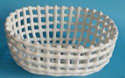 Полый белого цвета, стучать по итогам фарфора овощей и фруктов водяные фильтры овальной корзину