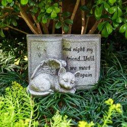 Cat Angel Memorial Stones Cat Angel FigUrine Outdoor Polyresin