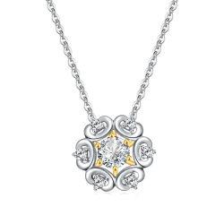 18K Gold Diamond aretes y dijes vende joyas collar Factory