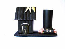 Vaso de lápis de carvão de Bambu (NW3-65)