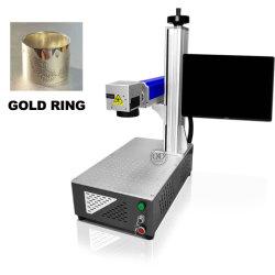 Pen PVC Tubes MetalのためのOptical Fiber携帯用レーザーMarking Machine