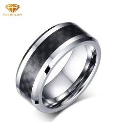 حلقة التنجستن لحلقات من ألياف الكربون للرجال حلقة من الفولاذ التنجستن مجوهرات بالجملة Tst2185