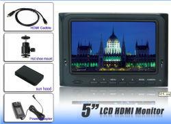 800x480 5 Zoll LCD-Bereich-Monitor für DSLR volle HD Videokamera mit HDMI Input und Ausgabe