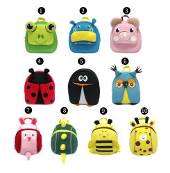 Os Designs mais recentes de fábrica Toddle Unissexo Neoprene Moda Animal Anti-Lost Cartoon Bonitinha piscina crianças patenteada de viagens escolares Mini-Bag Doll Toy Kids Saco mochila