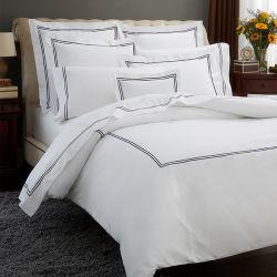 La literie brodée de luxe couette couverture de la Courtepointe Set Home Textile