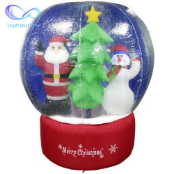 熱い販売のクリスマスの広告インフレータブルの雪地球の膨張性の広告