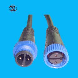 IP68 Hembra Cable de alimentación de la Terminal de alambre de latón Módulo M15 Conectores poste metálico