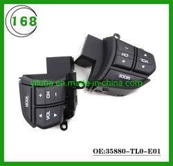Tasto di interruttore multifunzionale del volante di prezzi di fabbrica 35880-Tl0-E01 per l'audio tasto di controllo di crociera della Honda