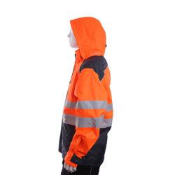 Le phoque à capuchon Fr Hi Vis Vêtements de travail à haute visibilité de l'Arc uniforme des vêtements de sécurité de protection industrielle Flash Veste Zip