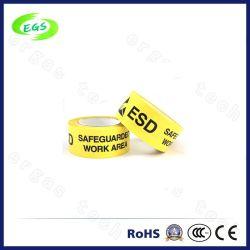 黄色いESDの記憶保護域PVC警告テープ