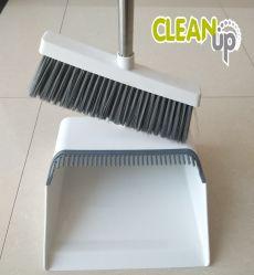 Очистите Anti-Wind Dustpan домашних хозяйств и щетки с ручкой из нержавеющей стали