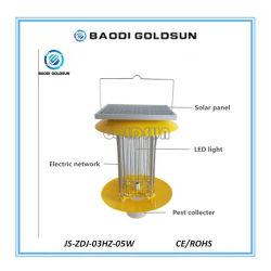 Le tout dans une lampe insecticide solaire