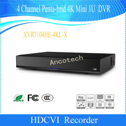 Dahua 4channel Penta-Brid 4Kの小型1u機密保護CCTV DVR (XVR7104HE-4KL-X)