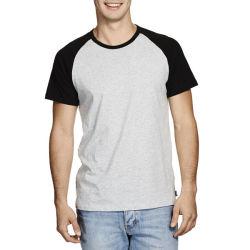 Grande qualidade homens simples moda T-shirt em branco (ZS-6037)