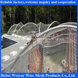 En acier inoxydable Zoo Ferruled Wire Mesh volière Cage d'animaux de maillage
