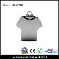 محرك أقراص USB محمول على شكل قميص مع عقد (USB-MT412)