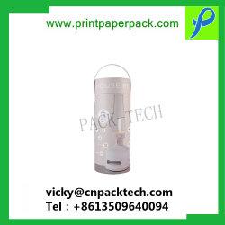 Les boîtes de fait sur mesure Logo personnalisé imprimés Boîte cadeau de fleur de forme ronde Jar Emballage pour les ornements de luxe