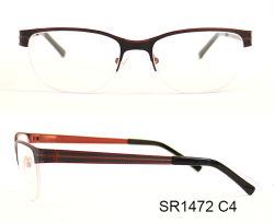 De halve Optische Frames Eyewear van het Metaal van de Rand Hete Verkopende