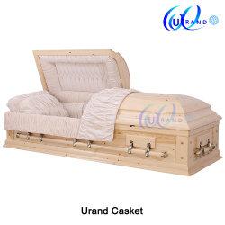 Pineconeの木製の大人の純木の葬儀の小箱および棺のマツ