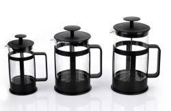 도매 4사이즈 스테인리스 스틸 플런저 유리 티 포트 프렌치 커피 메이커를 누르십시오