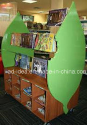Shape speciale Wooden Display Stand/Advertizing per Book, Magazine