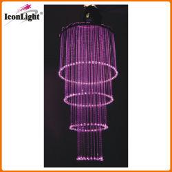 LED Crystal Оптоволоконный свадьбы люстра потолочного освещения (ICON-FC-03)