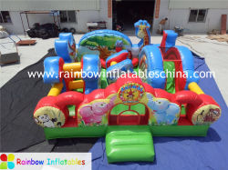 Thème Animal Fun City Bouncy Diapositive Combo gonflable