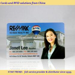 Qualità migliore con grande sconto! ! ! Carta da visita PVC in plastica con design gratuito buona qualità