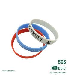 Faixa de pulso de alta qualidade em silicone promocionais Pulseira bracelete de Silicone